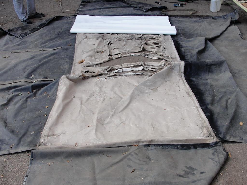 Замена крыши тента автоприцепа