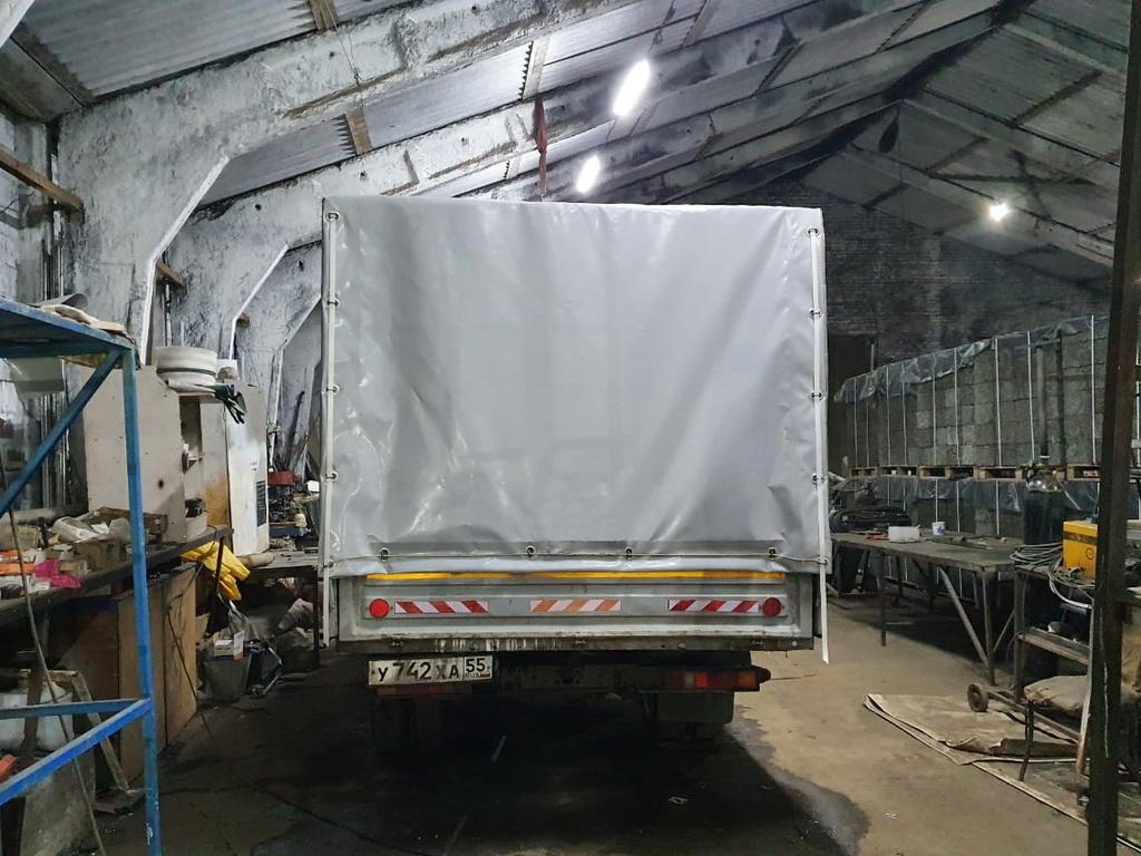 Установка заднего клапана тента грузовика «Газель-Фермер»